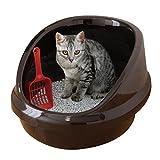 ネコのトイレ ハーフカバー P-NE-500-H [くろ]