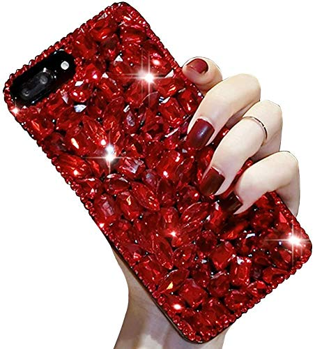 Lowest Prices! Bling Diamond Case for Redmi Note 8,Aearl 3D Homemade Luxury Sparkle Crystal Rhinesto...