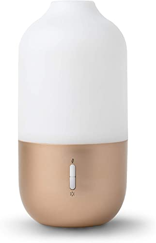 new arrival Design Accents Diffuser 2021 for Essential Oils - Ultrasonic Aroma Diffuser 2021 with 2 in 1 100ml and 500ml Dual Capacity, Matte Gold online