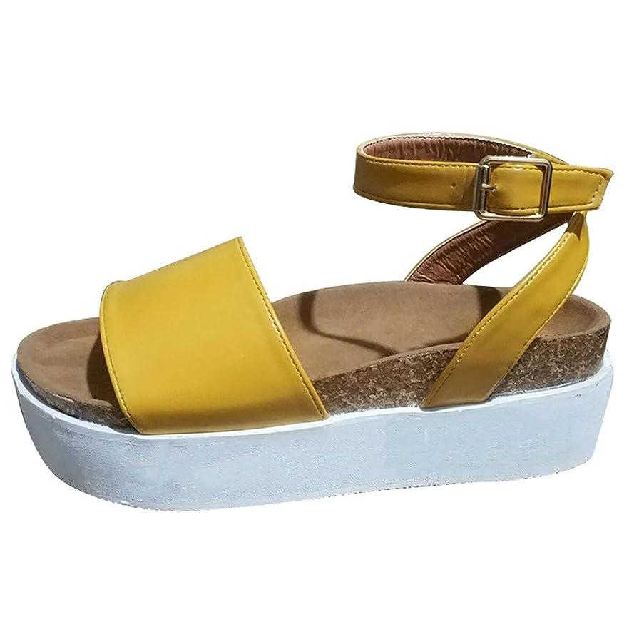 Women Multicolor Wedges Platform Chunky Sandals Espadrille Ankle Buckle Strap Peep Toe Shoes Summer