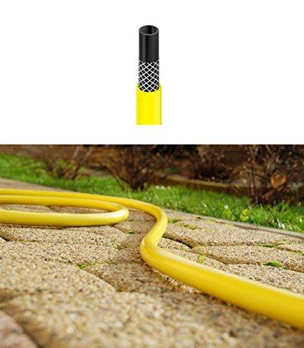 """Cellfast Lange Flexible DREI-Schichten-Garten gelb Schlauch Schlauch 70m Länge 1/2\""""Durchmesser"""