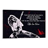 Yuhui Eddie Van Halen Gitarren-Poster und Wandkunstdruck,