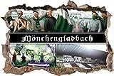 Ultras Mönchengladbach, 3D Wandsticker Format: 92x62cm,