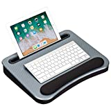 LapGear Smart-e Memory Foam Lap Desk - Silver Carbon - Fits up to 15.6 Inch laptops and Most Tablet...