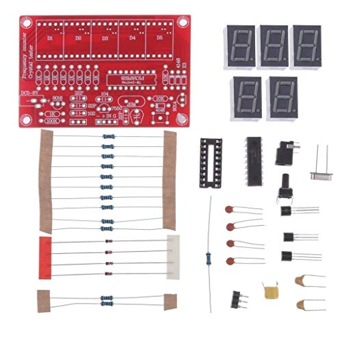Lorsoul 1Hz-50MHz Crystal Oscillator Tester Frequency Counter Tester Measuring Meter Case Durable DIY Led Kit
