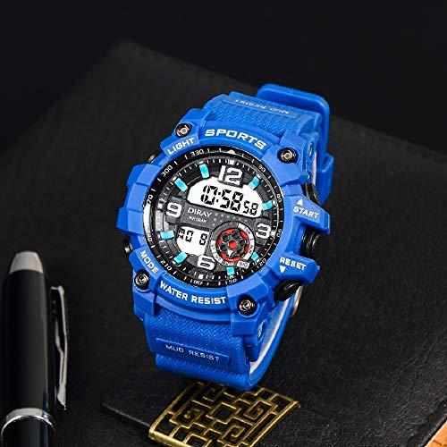 CXJC Relojes deportivos for hombres, relojes electrónicos impermeables for adolescentes y estudiantes de secundaria, relojes mecánicos for hombres, pantalla luminosa de alta definición, marcación redo