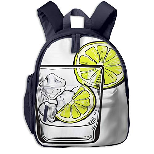 Children's Backpacks Glass Soda Water Students School Bag Child Kids Casual Daypack Sports Travel Outdoor, Lightweight, for Boys Girls
