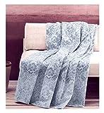 Zucchi Telo Arredo Multiuso Basics Copridivano Copriletto Singolo/Piazza e Mezza 180x270 cm Foulard Golden City Blu Grigio col. 3