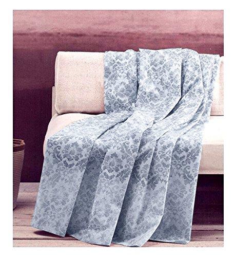 Zucchi Mehrzweck-Überwurf Basics Sofaüberwurf für Einzelbett/französisches Bett, 180 x 270 cm, Schal Golden City Blau Grau Farbe 3