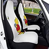 Winnie Pooh Car Seat Covers Soft Comfortable and Elastic Cars Seats Protective Case, Suitable for Most Family Cars 1 PCS