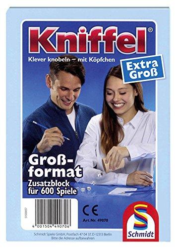 Schmidt Spiele 601.873.9 49070 - Kniffelblock, extra groß