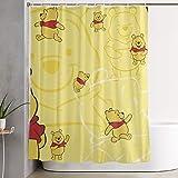 FFull-BAtttery-Shop Duschvorhang Winnie Pooh Waterproof Curtain
