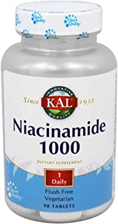 Kal 1000 Mg Niacinamide Tablets, 90 Count