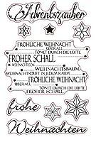ドイツのメリークリスマス透明クリアシリコンスタンプシールDIYスクラップブッキングフォトアルバム