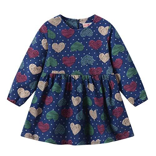Quaan Kleinkind Baby Mädchen Kind Herbst Kleidung Pferd Print Stickerei Prinzessin Langarm T-shirts Party Kleid Mini Kleid