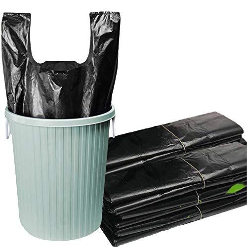 HIOD 200 Piezas 20L Bolsas de Basura con Asa Bolsas de Basura Bolsa de Almacenamiento de Residuos para Bolsas de Basura Domésticas