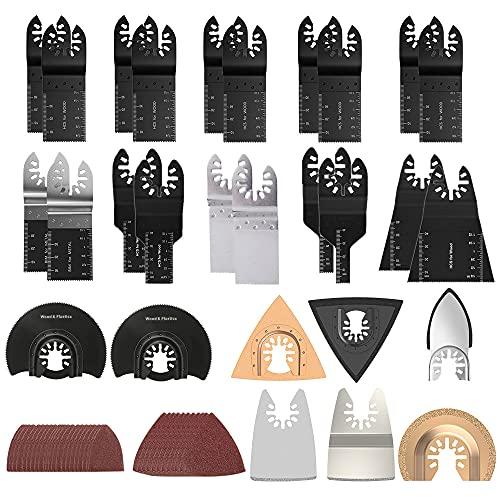 105 pezzi Set di lame oscillanti per sega, accessori oscillanti, utensili multifunzione,...