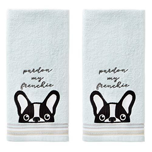 SKL HOME Pardon My Frenchie Hand Towel Set, 16' x 25', Aqua