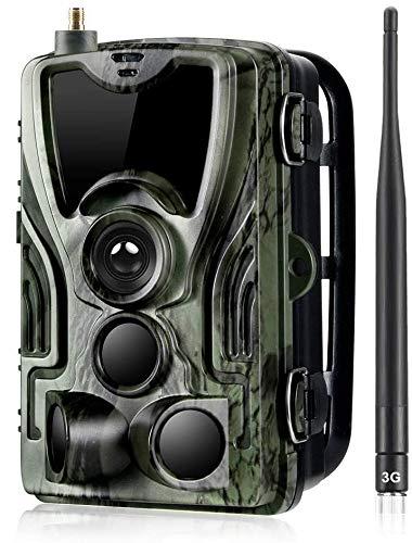 WUAZ Wildkamera 16MP 1080P Infrarot-Nachtsicht Jagdkamera mit 940nm LEDs, Zeitraffer, Zeitschaltuhr, IP66 Wasserdicht