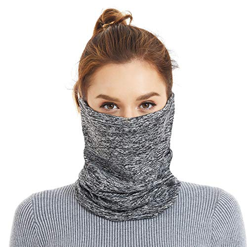 Tripsky Winter Neck Gaiter Warmer, Adjustable Elastic Closure Face Cover Mask for Women and Men, Suitable for Skiing Fishing Running Cycling Outdoor Recreation in Cold Weather