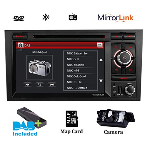 Doble DIN, reproductor de CD y DVD estéreo para coche DAB Radio RDS Sat Naval Bluetooth GPS navegación 7' pantalla táctil capacitiva HD espejo para Audi, A4, S4 RS4, SEAT EXEO, soporte Bluetooth 3G