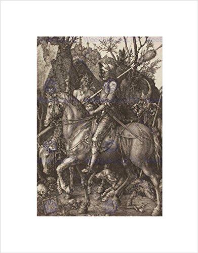 Wee Blue Coo Albrecht Durer Knight Death Devil Old Master - Stampa artistica da parete