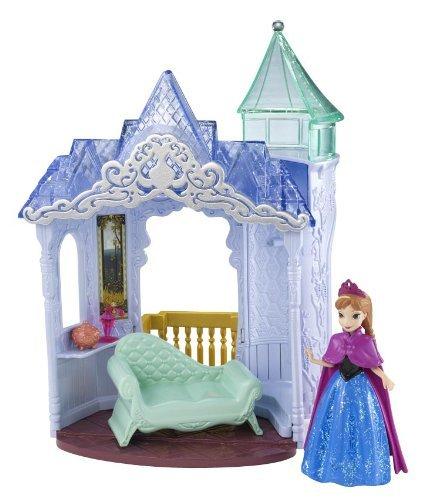 Disney Frozen Toy – Château à Bascule et Interrupteur – Magiclip – avec poupée Anna