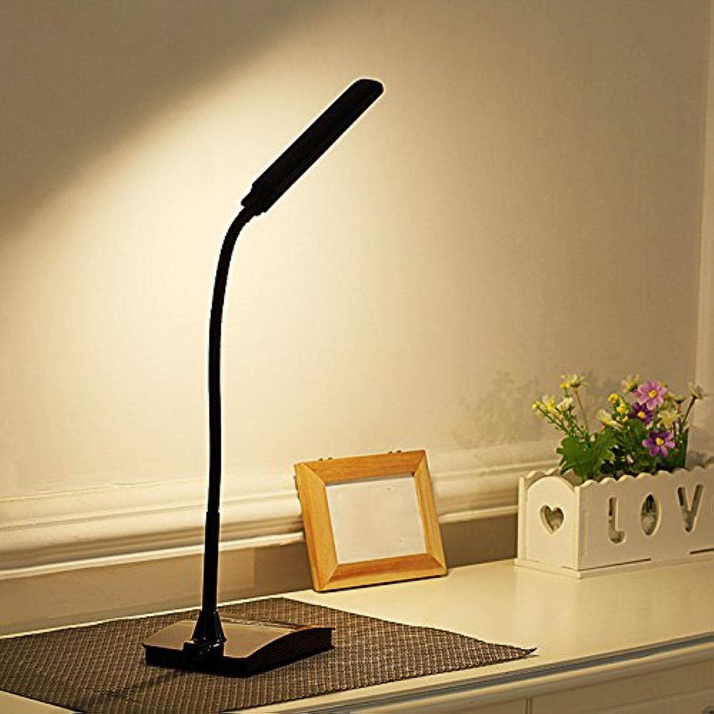 LED-Ladeanzeige Auge lampe Tischlampe Nachttischlampe Schlafzimmer Schlafsaal für Kinder zu lernen, Plug-drei Dimmen-Schwarz