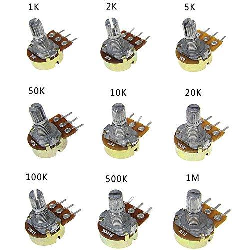 waves 可変抵抗器 ボリューム セット Bカーブ 1K-1M 9種 各1個 計9個