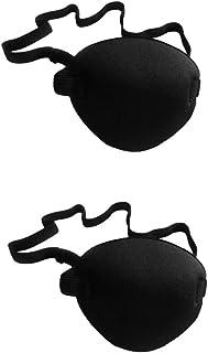 TOYMYTOY 男性のため 2本 Cyclopsアイパッチ 高弾性スポンジ アイパッチカバー 男性 大人(ブラック)