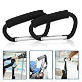 2pcs X-Large Carabiner Stroller Hooks Durable Mommy Clip Stroller Hanger Organizer for Purse