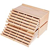 MEEDEN 10-Drawer Artist Supply Storage Box - Large Capacity Multi-Function Beech Wood Pencil Box with Drawer & Compartments for Organizing Pastels, Pencils, Pens, Markers, Brushes & Stamp