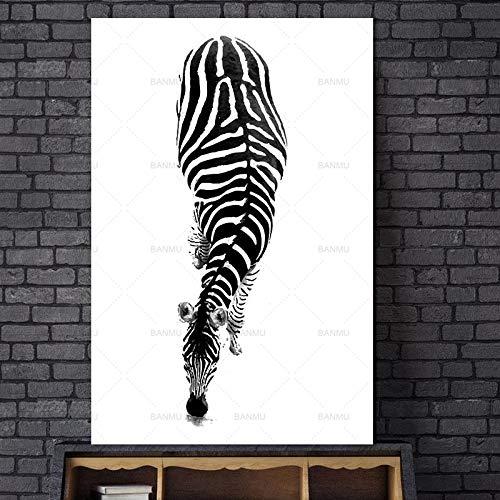 baodanla Kein Rahmen nach Zahlen Hitler 24mm, Leinwand Zebra Haus ng Zimmer Öl ng, Drucken Wohnzimmer, Korridor Esszimmer Wallpaper40x60cm