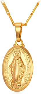 Virgin Mary Necklace & Chain 22