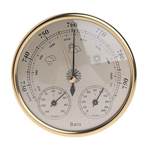 JIRENSHU Barometer Barometer Wand-Wettervorhersage Station Thermometer Hygrometer Marine Labor Haushaltswerkzeug