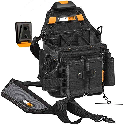 ToughBuilt - Journeyman Electrician ClipTechPouch + Hub with Shoulder Strap (21 Pockets/Loops)
