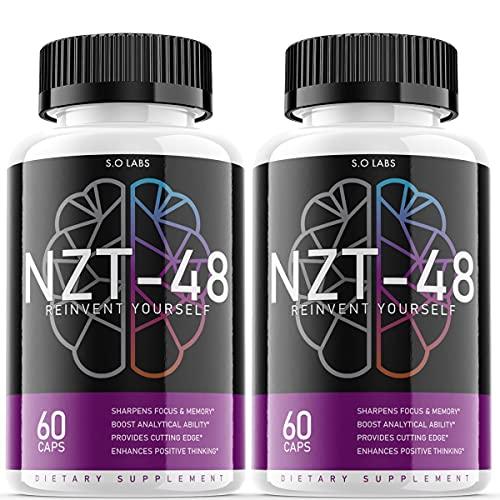 NZT 48 Limitless Pill Reinvent Yourself NZT-48 Focus Memory Brain Booster Supplement (2 Pack)