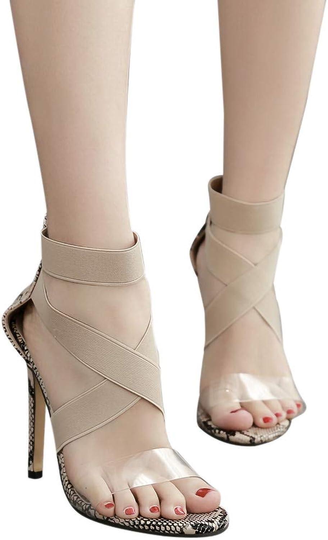 Fheaven Women Platform Dress Sandal,Non-Slip High Heels Peep Toe Cross Strap Wedge Pumps for Party Casual (6.5, Khaki)