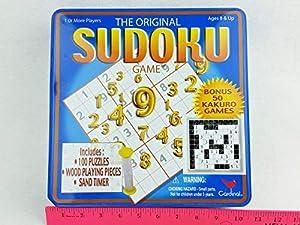 Cardinal Industries Sudoku/Kakuro Deluxe Game Tin