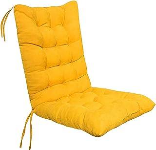 SWECOMZE Coussins de chaise à dossier haut lavable | Coussins d'assise et de dossier pour chaises de jardin – 40 x 90 cm –...