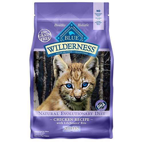 Blue Buffalo Blue Wilderness Kitten Chicken Recipe Dry Cat Food, 2 lbs.