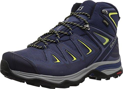 Salomon X Ultra 3 Mid GTX Traillaufschuhe für Damen, Blau (Krone blau/abendblau/sonnig Lime), 46 EU