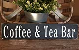 Dozili Rustic Wood Sign Coffee Tea Bar Country Farmhouse Home Decor Kitchen