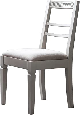Frank Hudson Bronte Dining Chair 2 Pieces Set, Taupe, 435 x 542 x 910 mm