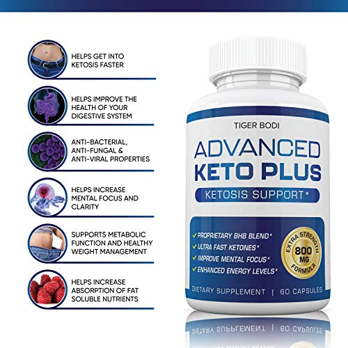 Keto Advanced Weight Loss, Advanced Keto Plus Keto Advance - Advanced Keto Diet Pill Fast Burner Supplement for Energy - BHB Ultra Boost Exogenous Ketones for Rapid Ketosis for Men Women 3