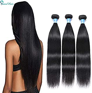 10A Peruvian Virgin Straight Human Hair 3 Bundles (16