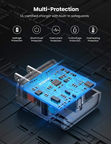 UGREENUSBC充電器PD3.0急速充電20WACアダプターType-CiPhone12/11/11Pro/11ProMax,iPhoneXSXRX8,iPadPro等、QC4.0/3.0/2.0兼用GalaxyS10S9Plusなどとその他USB-C機器対応PSE認証済みホワイト