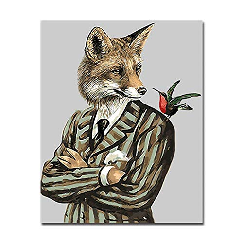 Pictur by Numbers Kit Coloring Painting Drawing DIY Digital Mister Fox On Oil Canvas Home Decor Wall Art Painting Abstract Cartoon