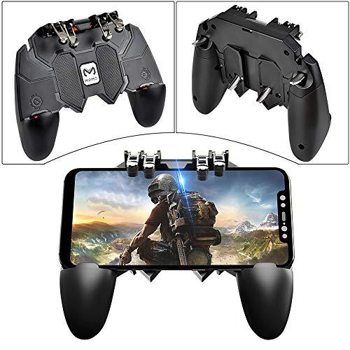 Elucku PUBG Mobile Game Controller 6 Finger Gamepad AK66 Supporto per Cellulare Integrato per...