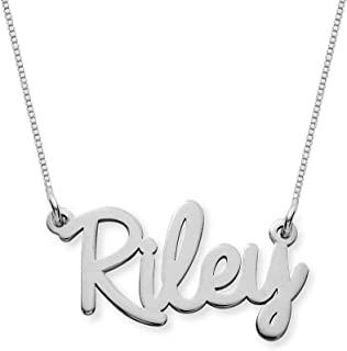 custom name necklace white gold